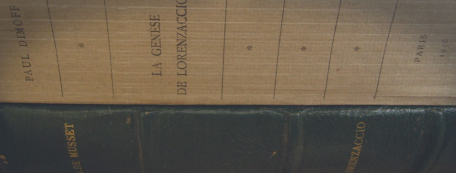 Divers livres de Lorenzaccio d'Alfred de Musset Photo de Philippe Pillavoine